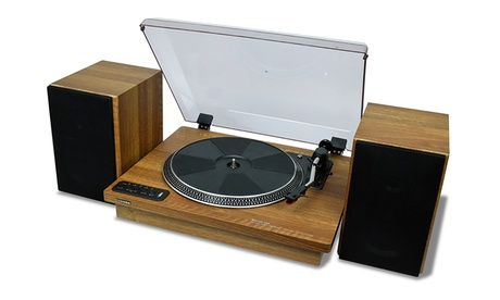 """Toshiba TY-LP200 12"""" Bluetooth Turntable with Stereo Speakers 6cf7547c-7314-11e7-ae41-00259069d7cc"""