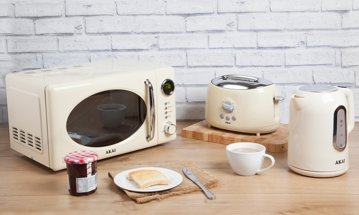 Akai Kettle Toaster And Microwave