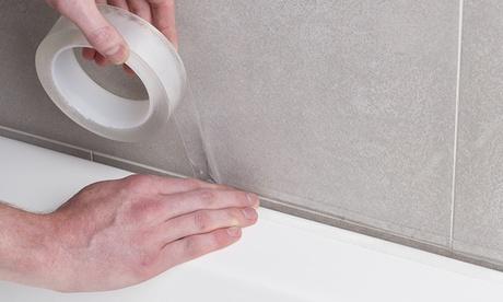 1, 2 ó 4 cintas impermeables transparentes de acrílico de 5 m, disponibles en 2 tamaños