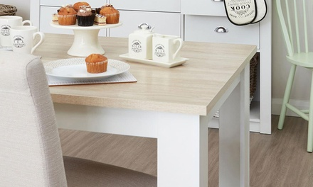 Small (AED 1,199) or Large (AED 1,499) Dining Table with Two Storage Benches