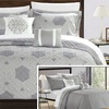 Chic Home Embroidered Reversible Quilt Set (5-Piece)