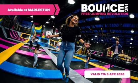 2-Hour Trampoline Arena Entry: Weekday for 1 ($15) or Weekend for 4 People ($75) at BOUNCE Inc (Up to $118.50 Value)
