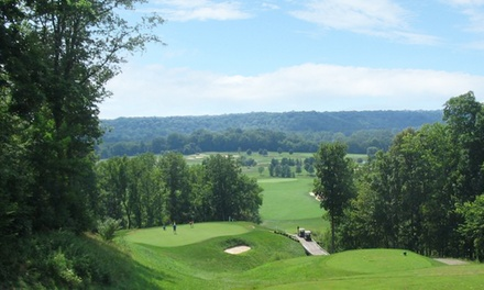 18 Holes of Golf with Cart Rental and Range Buckets for Two or Four at Elks Run Golf Club (Up to 51% Off)