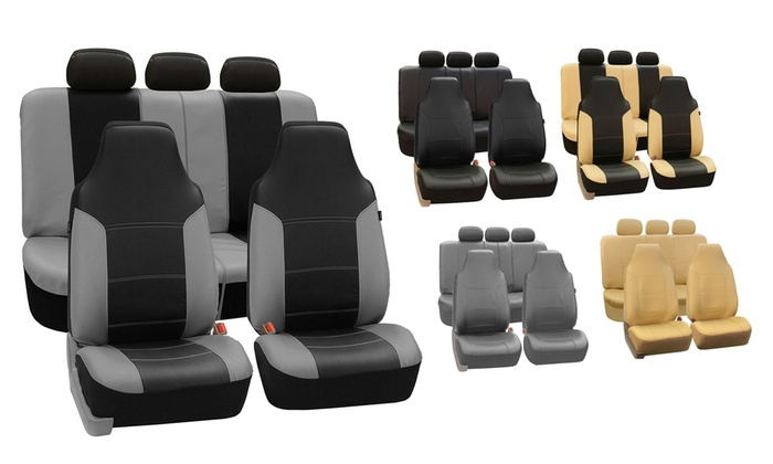 Royal Leather Seat Covers Set 7 Piece