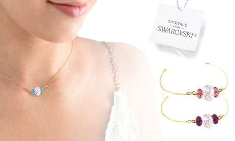 ah! jewellery necklace, bracelet or set with crystals from swarovski®