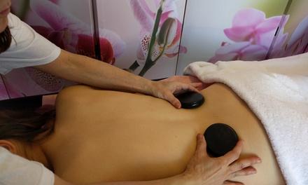 Sesión de masaje cálida-fresca