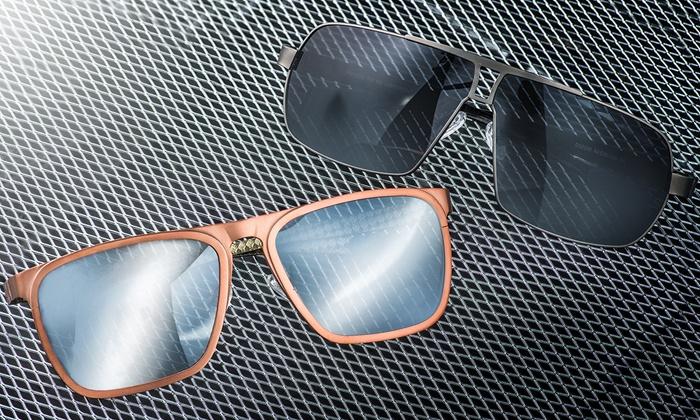 b0ae5fc36366 Breed Capricorn and Sagittarius Men's Titanium Sunglasses