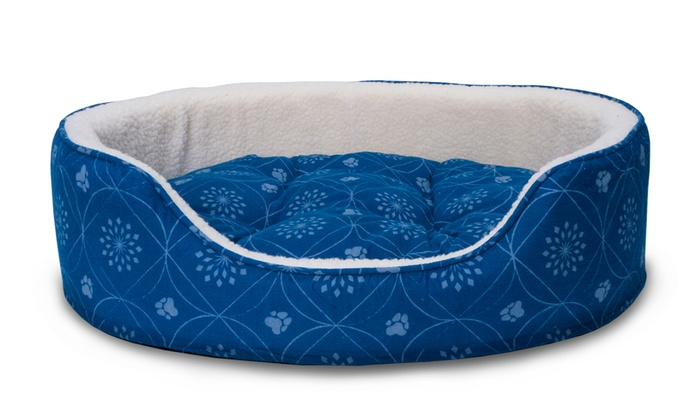 Up To 58 Off On Print Flannel Oval Pet Bed Groupon Goods