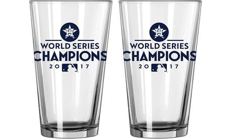 Houston Astros 2017 World Series Champs Pint Glass Set (2-Piece) 0c7b9096-b9c2-11e7-a884-00259069d7cc