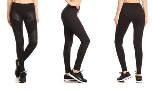 Electric Yoga Stretchy High-Waist Leggings. Plus Sizes Available.