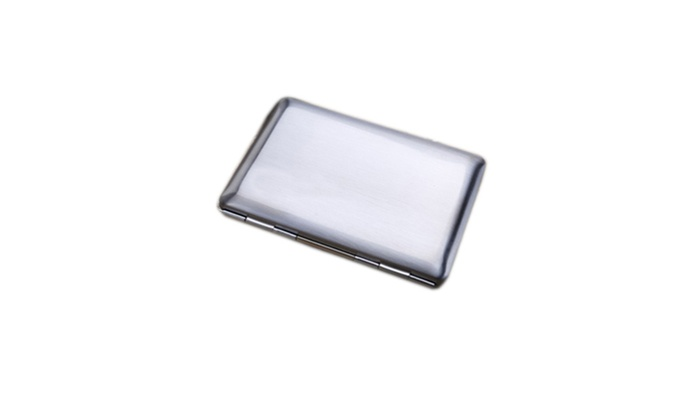Trend Matters Stainless-Steel Travel Card Case