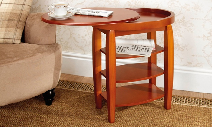 Swivel Top Side Table