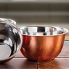 Stainless Steel Mixing Bowls with Copper Finish Set (3-Piece)