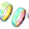 Unisex Rainbow Ring in 316L Stainless Steel