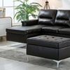 Kinsley Contemporary Upholstered Sectional Sofa and Ottoman (3-Piece)