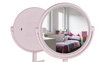 Espejo portátil rodeado con luces LED
