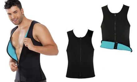 Men's Sauna Zipper Vest