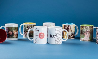 Up to Three Personalised Photo Mugs from Colorland (Up to 79% Off)