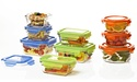 Glasslock 10-Pc. Food Storage Set w/Color Lids
