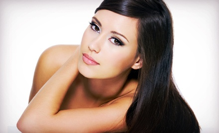 Haircut and Style with Full Color or Full Highlights, or Keratin Treatment at A Perfect Image Salon (Up to 54% Off)