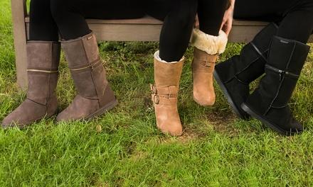 Bottes fourrées adaptables Refoot 100% peau de mouton