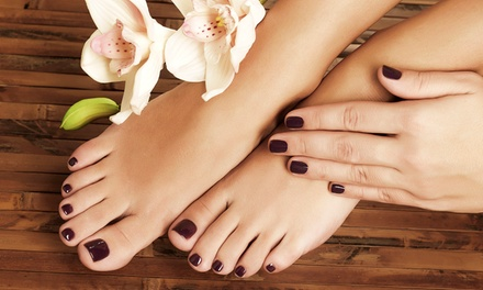One or Two Shellac Mani-Pedis at Serendipity's Salon and Spa (Up to 57% Off)