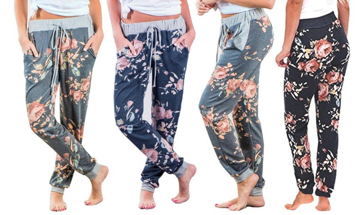 One or Two Pairs of Floral Casual Lounge Pants (£11.99)