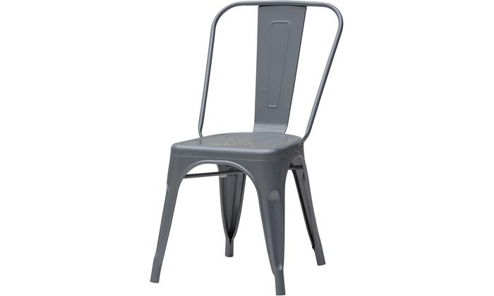 Fino a su set di sedie in metallo groupon