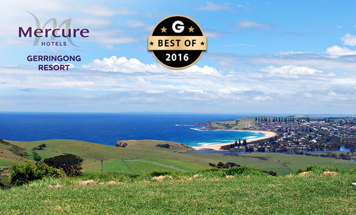 Gerringong: One to Three Nights for Two with Bottle of Wine and Late Check-Out at Mercure Resort Gerringong