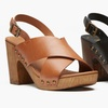 Kenneth Cole Reaction Log Cabin Heeled Sandals (Sizes 6, 7.5, 8)