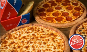 Pizza GoGo: Three Sides with Pizza Order at Pizza GoGo, Multiple Locations (Up to 80% Off)