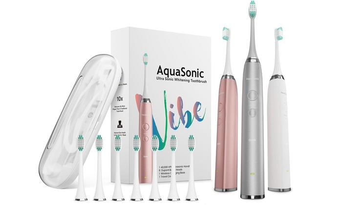 Up To 74% Off on AquaSonic UltraSonic Toothbrush | Groupon Goods