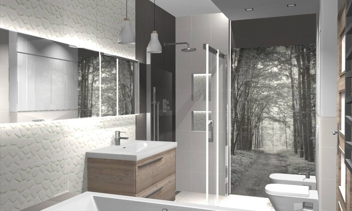 Projekt łazienki 3d Elly łazienki Bydgoszcz Groupon