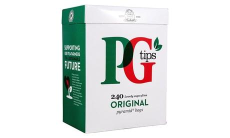 2 o 4 cajas de 240 bolsitas de té negro PG Tips Oferta en Groupon