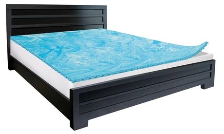 "Lux Comfort 2"" Reversible Gel Memory-Foam Mattress Topper 9eb3913a-628c-11e7-80a8-00259069d868"