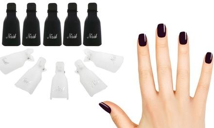 Sets van 10 nagelknijpers voor het verwijderen van semipermanente nagellak