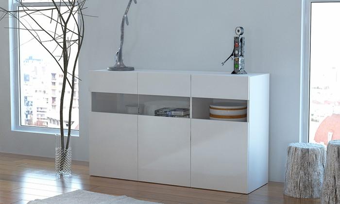 Credenza Con Vetro Moderna : Credenza potenza dal design moderno groupon goods