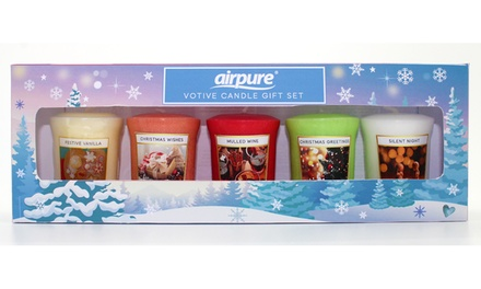 Up to Four Airpure FivePiece Votive Candle Gift Sets