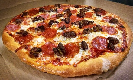 One- or Two-Pizza Meal with Cinnamon Sticks and Soda at Mama Q's Pizza            (Up to 48% Off). Four Options.
