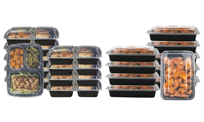 Reusable Food Storage Containers (14, 20, or 28-Piece Set): Reusable Food Storage Containers (14, 20, or 28-Piece Set)