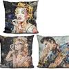 Iconic Collage Print Throw Pillows by Ines Kouidis
