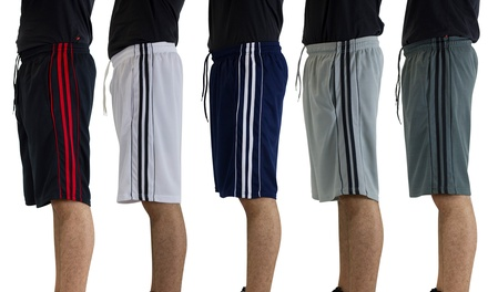 American Legend Mens Active Athletic Performance Shorts - 5 Pack Was: $79.99 Now: $24.99.
