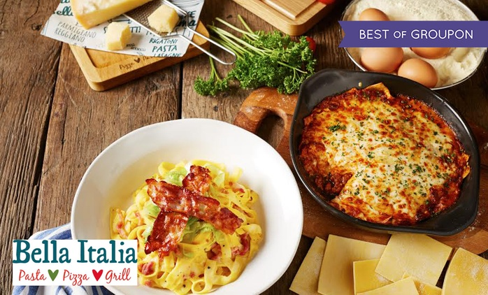 Two-Course Italian Meal for Two or Four at Bella Italia, Nationwide (Up to 58% Off).
