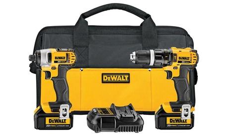 DEWALT 20V 3.0Ah Compact Impact Driver & Hammer Drill Combo Kit c51da800-13d2-11e7-ab5b-00259060b5da