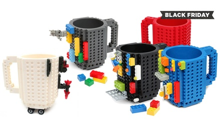 One (£6.98), Two (£12.98) or Three (£18.98) Build-On Brick Mugs (Up to 68% Off)