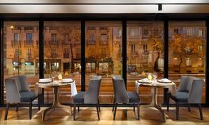 Restaurante H10 Puerta de Alcalá: Brinner para 2 o 4 personas con bebida, zumo, café, comida y postre desde 19,95 € en Restaurante H10 Puerta de Alcalá