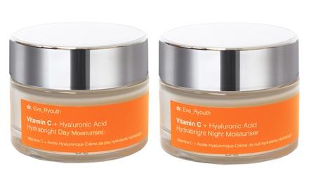 Crèmes de jour et de nuit  pour visage, enrichie en Vitamines C de la marque Dr Eve Ryouth