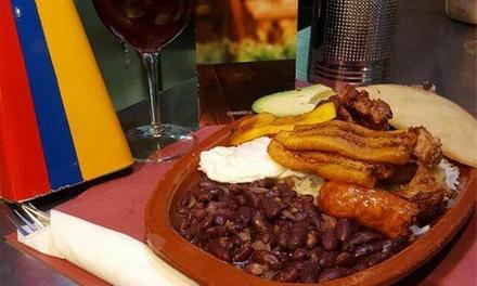 Menú colombiano para 2 o 4 personas con entrante, principal, bebida y postre desde 19,95 € en Sonder
