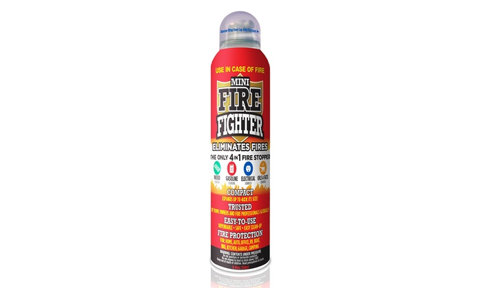Mini Firefighter Fire-Extinguishing Foam (1-, 2-, or 3-Pack)