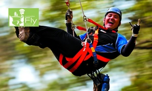 Illawarra Fly Treetop Adventure: $60 for a Zipline Experience with Meal with Illawarra Fly Treetop Adventure, Knights Hill (Up to $92 Value)
